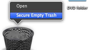 how to empty trash mac