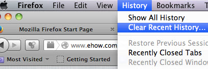 how to delete history on a mac