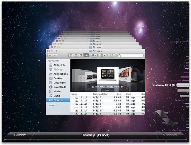 restore mac from time machine