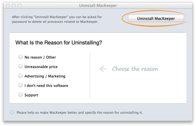 uninstall mackeeper