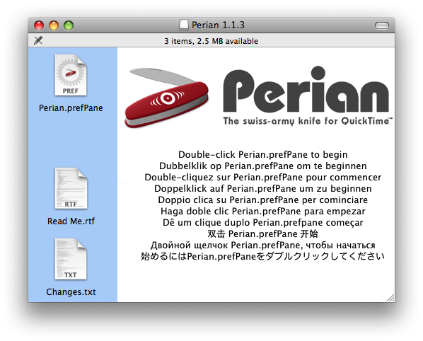 Install and use Perian
