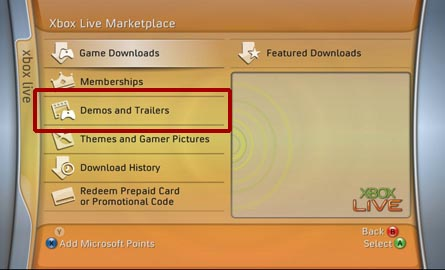 play video on Xbox 360