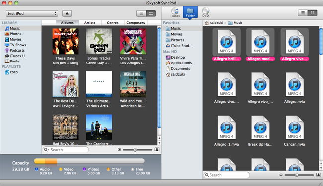iTunes to device