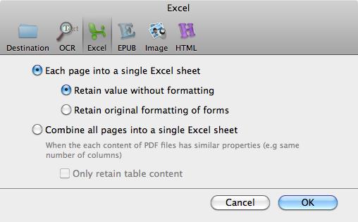 pdf to xls convertor