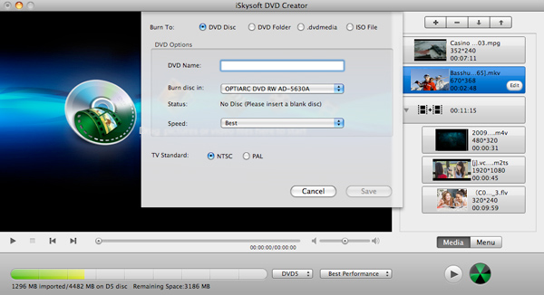 burn dvd on mac