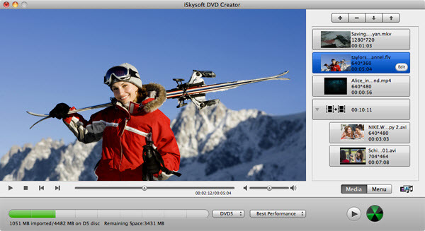 MOV file to DVD converter for Mac
