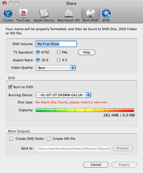Burn DVD Slideshow on Mac