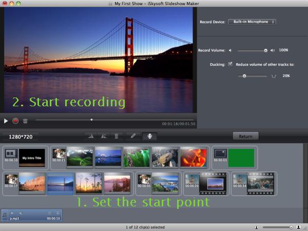 slideshow audio editing