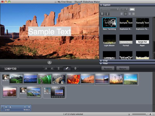 slideshow photo editing