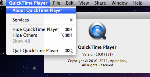 check quicktime on mac