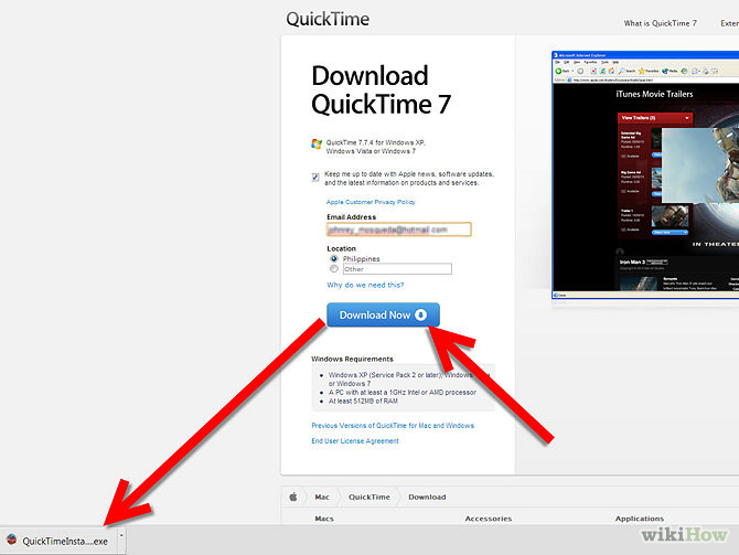 download quicktime on pc