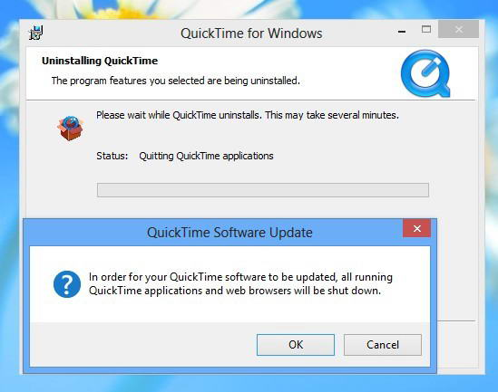 uninstall quicktime on pc