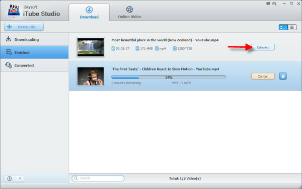 convert youtube to quicktime