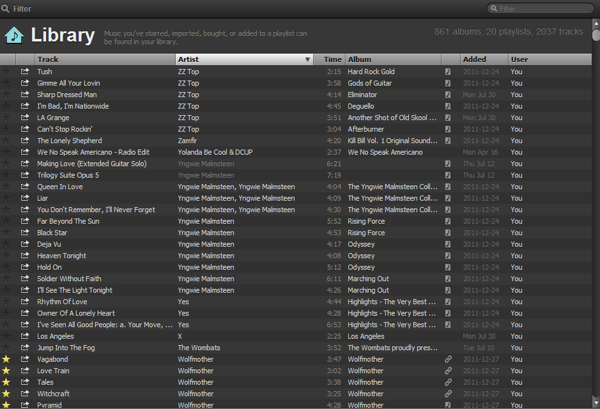 Spotify library