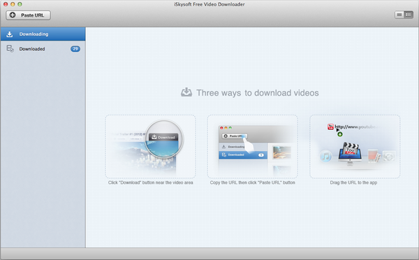 free youtube downloader main interface