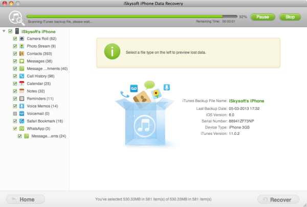 iphone 5 data recovery Mac