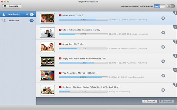 iTube download process