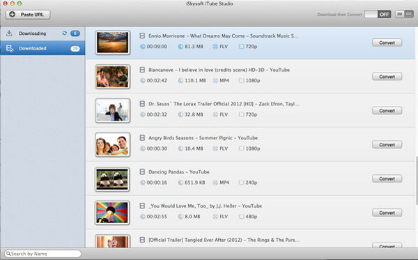 iTube YouTube downloader Interface
