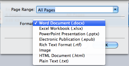 scanned pdf to word mac lion