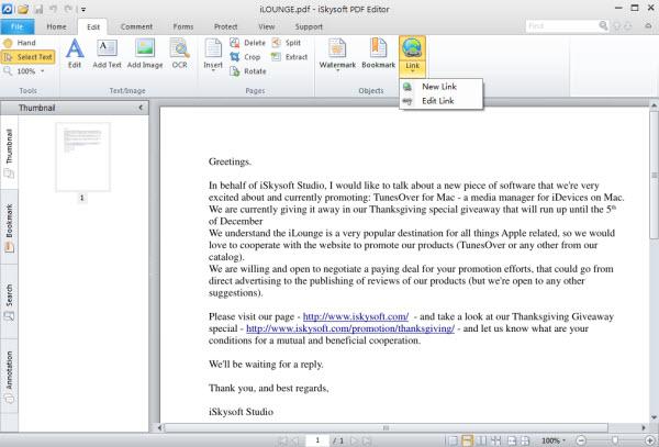 add hyperlink to pdf on windows