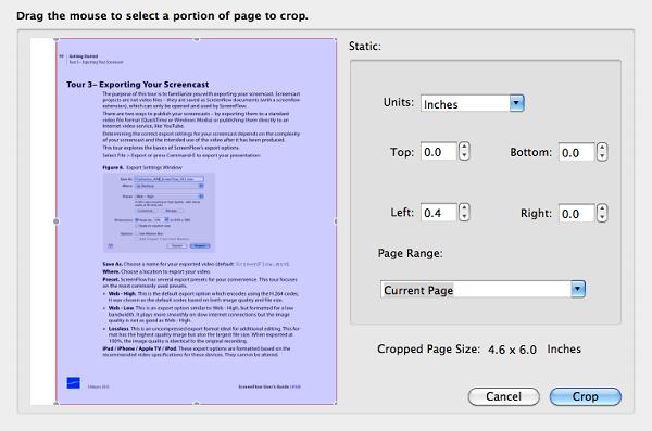 crop pdf pages