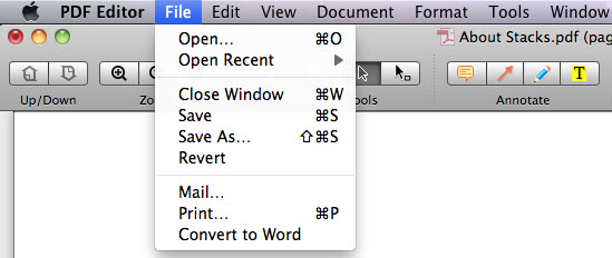 convert pdf to Pages mac