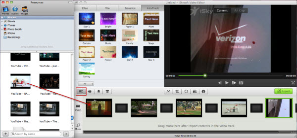 video importing