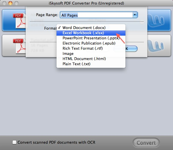 PDF2XL on mac