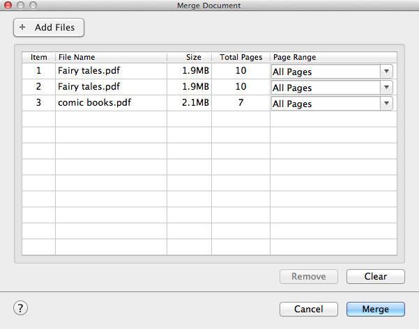 combine pdf mac free