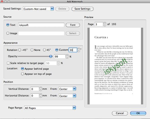 os x watermark pdf